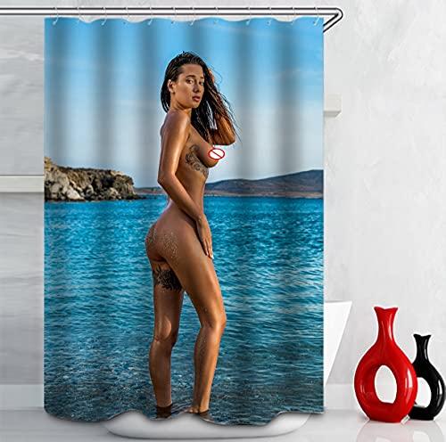 NETUPQ Shower curtainSexy nude girl dew point bath print shower curtain bathroom supplies dwaterproof waterproof bathroom decor