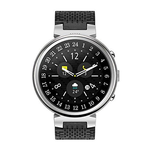 NICERIO Smartwatch,I6 wasserdichte 1,3 Zoll OLED-Bildschirm Smart Watch Sport Tracker Fitness Uhr Blutsauerstoffsättigung Blutdruck Pulsmesser Smartwatch (Silbergrau)
