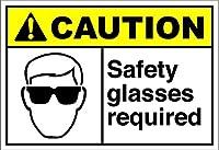 警告プラーク、このポイントを超えて必要な安全メガネ、ヴィンテージマンケイブガレージサインバーサインメタルウォールティンサインウォールアートシンボルポインターデカールメタルサイン
