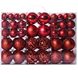 RONSHIN Home for 100Pcs 3-6CM Christmas Balls Hanging Pendants for Xmas Tree Decoration