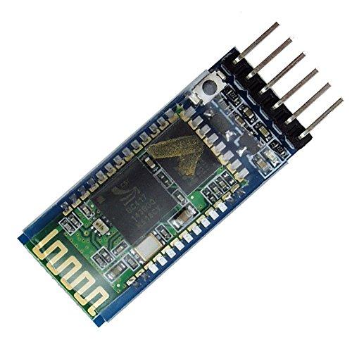 LeaningTech Módulo HC-05 Bluetooth Serial Pass-Through Módulo Wireless Serial Comunicación Serial con Botón para Arduino