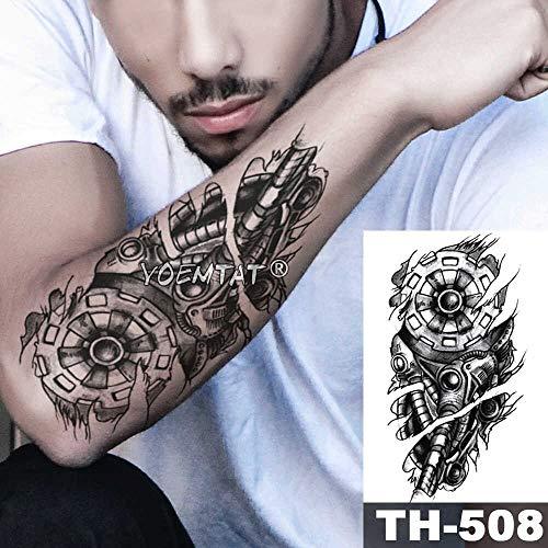 JXAA Skizze Tiger Tattoo Aufkleber Löwe Wolf wasserdicht Tattoo Krieger Krieger Flügel Körper Kunst Arm Tattoo männliche Dame 14-TH508