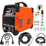 Plasma Cutter, 50A Inverter AC-DC IGBT Dual Voltage (110/220V/120V/240V) Cut50 Portable Cutting Welding Machine With Intelligent Digital Display With Free Accessories Easy Cutter Welder