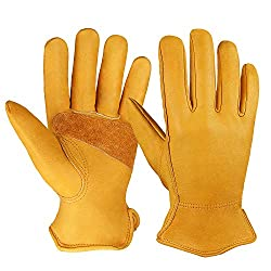 Ozero leather work gloves