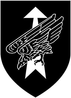 DSO DSK Division Fast Forces Bundeswehr Special Operations Coat Of Arms Badges Logo Commando Special KSK (black 10 x 7cm) - Sticker Wall Decoration