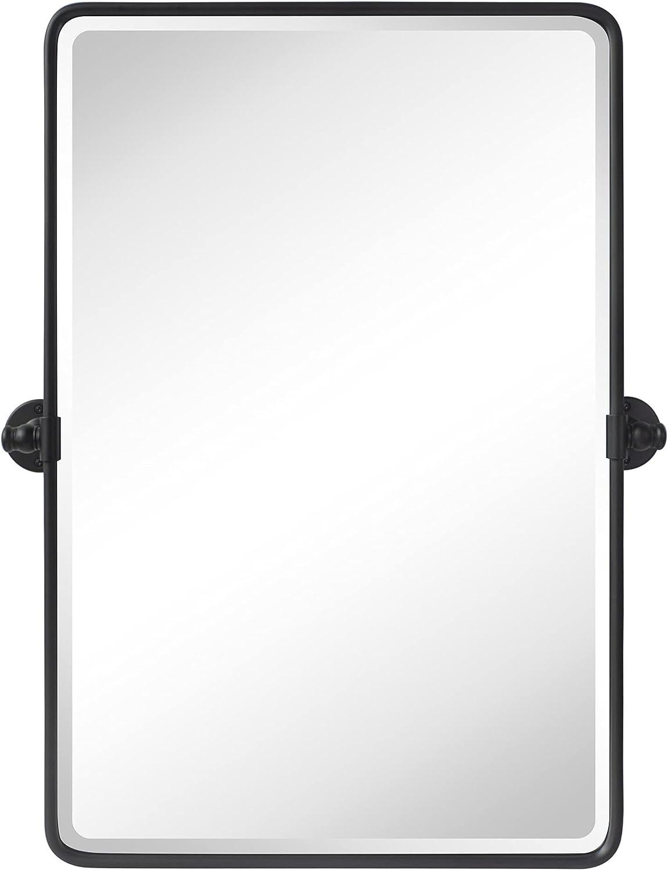 Buy Tehome 20 X 30 Pivot Rectangle Bathroom Mirror Black Metal Framed Tilting Beveled Vanity Mirrors For Wall Online In Taiwan B08t95x2jl