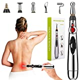 Acupuncture Pen 5 in 1 Electronic Acupuncture Pen Meridian Energy Pulse Massage Pen,Multi-Function Massage Pen Tools for Massage Energy Therapy Pain Relief,1 x AA Battery (Not Included)