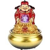Fuente de sobremesa, símbolo de la Riqueza Fuente de Agua Relajante de Escritorio Zen Mini función de Agua con luz LED, Sonido de Agua silencioso y Relajante, para Dormitorio, Oficina, Sala de Estar