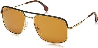 نظارة كاريرا الشمسية بتصميم مربع للرجال من كاريرا 152/s، ذهبي، 60 ملم