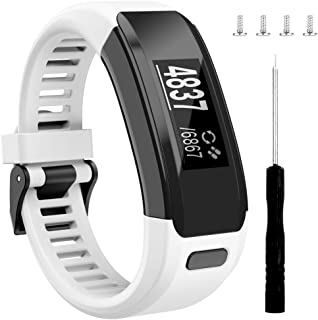 Wizvv Compatible Bands Replacement for Garmin Vivosmart HR, with Metal Buckle