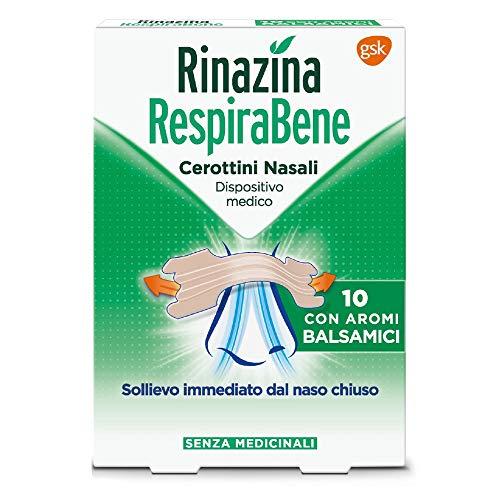 Rinazina Respira Bene Cerottini Nasali Con Aromi Balsamici 10 cerotti