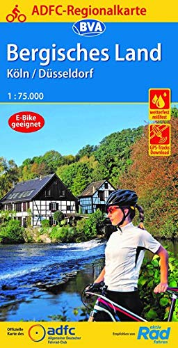 ADFC-Regionalkarte Bergisches Land Köln/Düsseldorf 1:75.000, reiß- und wetterfest, GPS-Tracks Download (ADFC-Regionalkarte 1:75000)