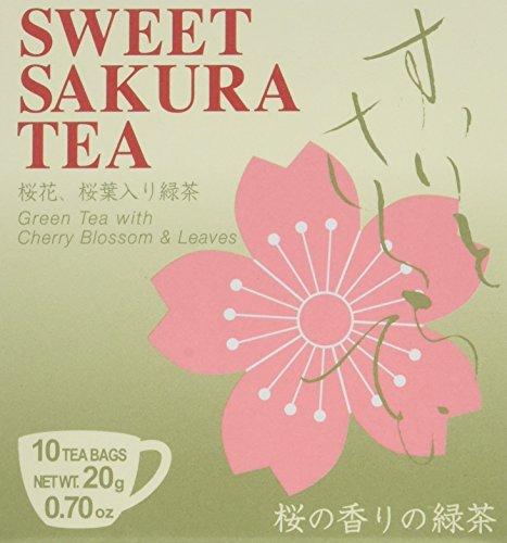 Sakura Grüner Tee, Kirschblütenaroma, 10er Pack (10 x 20 g)