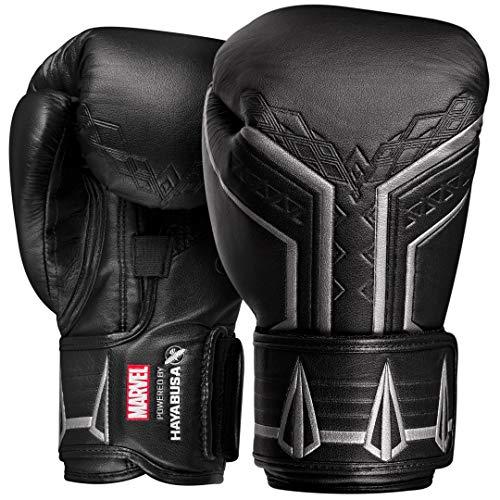 Hayabusa Marvel Hero Elite Boxing Gloves for Men and Women - Black Panther, 12 oz