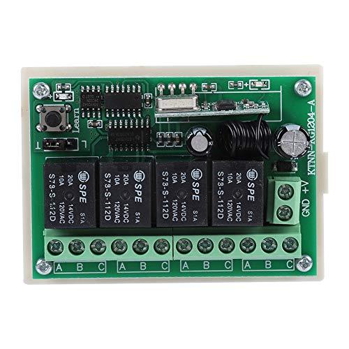 01 Relé de Control Remoto, transmisor de Interruptor de luz multifunción con Receptor, Alarma de Seguridad inalámbrica Alarma de Puerta inalámbrica para luz para Motor