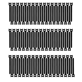 Pasow 100pcs Reusable Fastening Cable Ties Adjustable Wire Management (7 Inch, Black)