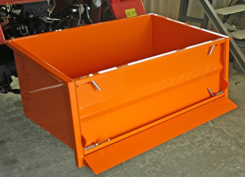 YERD Transportmulde für Traktor/Heckcontainer / Transportbox/Kippmulde mit Kat Anschluss (100 cm)