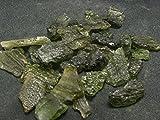 Healing Crystals India: Ein (1) Moldavit/Tektit aus der Tschechischen Republik - 5 Karat
