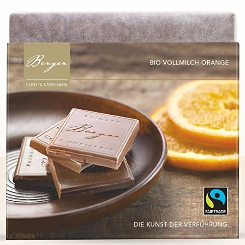 Berger Bio Vollmilch Schokolade mit Orange , 90 g