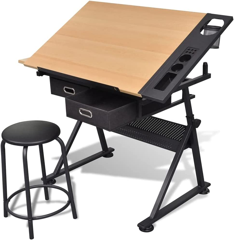Height Adjustable Drafting Table Drawing 2 Year-end annual account Inventory cleanup selling sale Storage Drawe w