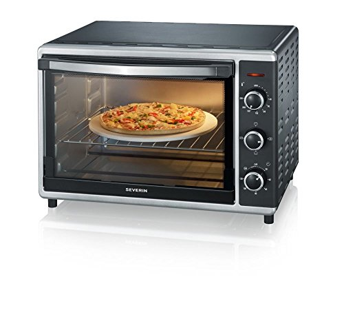 Severin TO 2058 Forno Elettrico 42 Litri ventilato, spiedo Girevole, Pietra per Pizza, teglia, Temperatura da 60° Fino