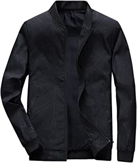 Men's Long Sleeve Jacket Coat Beautyfine Autumn Winter Casual Pure Color Zipper Outwear Tops