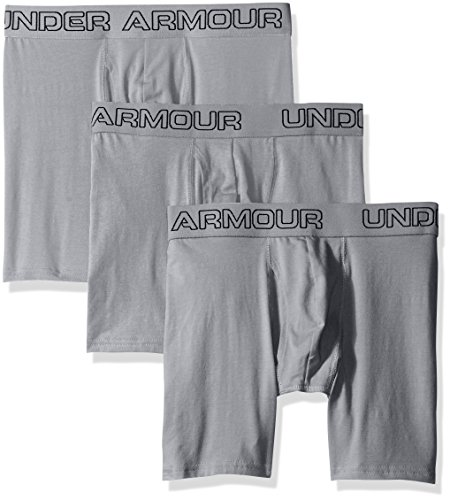 Under Armour Charged Cotton Caleçon Homme, Steel, FR (Taille Fabricant : LG)