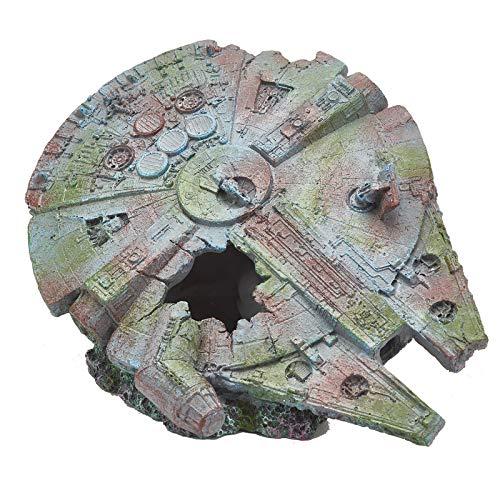 Pet Ting Star Wars Millennium Falcon Ornament for Fish Tank and Vivariums