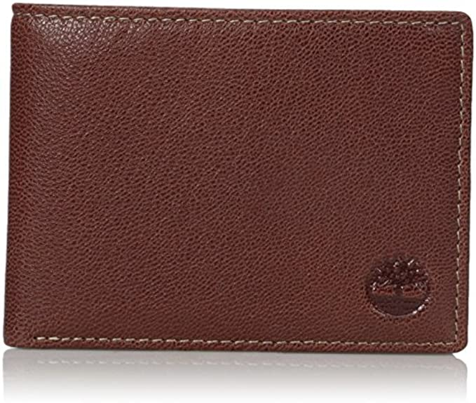 Timberland Men's Genuine Leather RFID Blocking Passcase Security Wallet