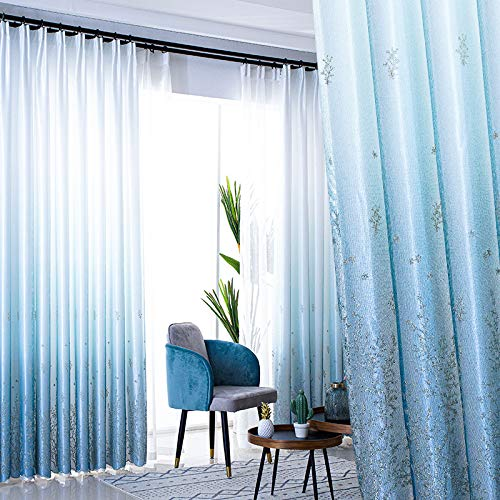BOLO Linen look transparent curtains-pole pocket translucent living room and bedroom translucent curtains,2.5MX2.7M