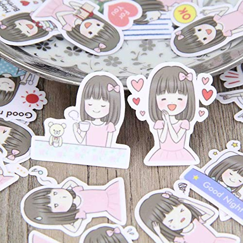 40 pcs/lot Pink skirt cute girl comic cartoon stickers phone suitcase laptop skateboard Paper toys sticker decal gifts