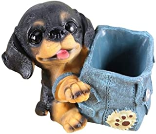 DKX Pen Holder, Multi-Function Resin Pen Holder, Puppy Pen Holder, Can Be Used As A Gift, Suitable for Office, Dormitory, Study (Color : 2)