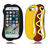 EarthNanLiuPowerTu 3D Hamburger Hot Dog iPhone 6S Plus Coque, Mignon TPU Flexible...