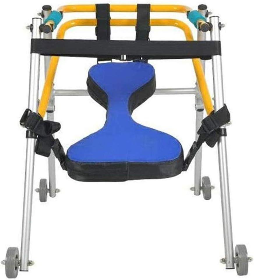 Caminantes para personas mayores Caminante plegable ligero de cuatro ruedas con asiento acolchado para niños pequeños, niños, adolescentes con necesidades especiales, parálisis cerebral - duradero, al