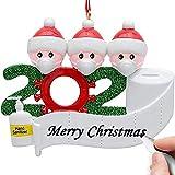 Uhada 2020 Christmas Ornament, Christmas Tree Hanging Pendant for Home Decoration-Quarantine Gift (Style-A, Family-3)