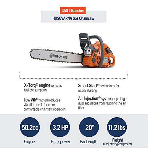 Husqvarna 20 Inch 450 Rancher II Gas Chainsaw