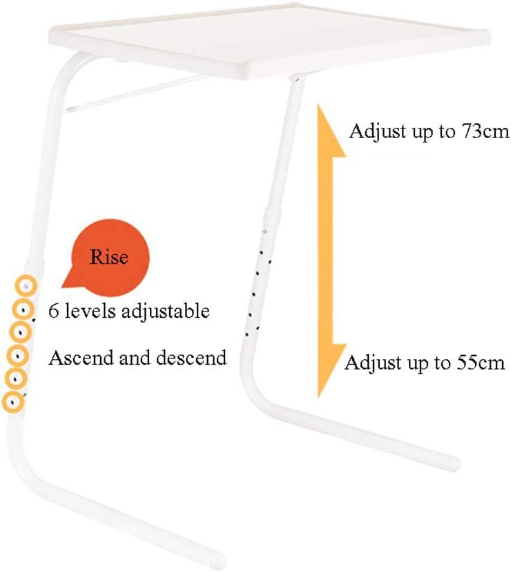 Station De Travail Dordinateur Mobile De Table Pliante Mobile Multifonctionnelle avec Porte-Gobelet Blanc Table Dappoint Portable De Bureau,Blanc DJFIOSD Bureau Dordinateur Portable R/églable
