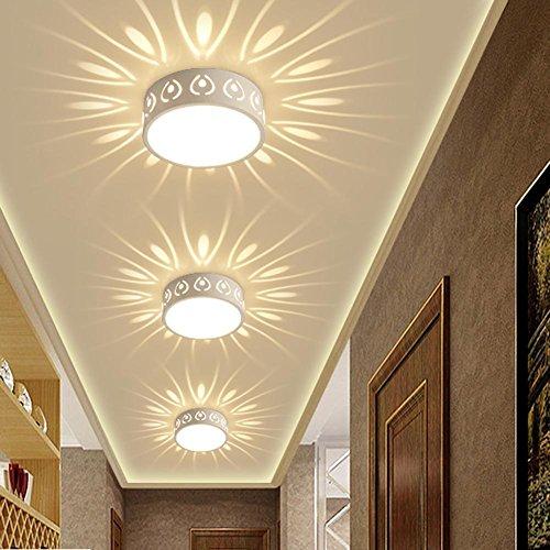 Simple créatifs Corridor Spot mural Lampe Nuit de marche Lampes de table lumière ffekt Lumières Round encastrable Downlight Lampe Intégrée Plafonnier Applique murale Ø15 cm Fer LED 3 W