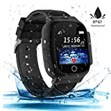 Kinder SmartWatch Phone Digital Camera Watch with Games Music Player Alarm Clock and 1.44 inch Touch LCD for Jungen und Mädchen Birthday (Black)