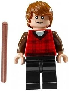 HP Lego Harry Potter Minifigure Ron Weasley Plaid Shirt Hogwart''s Express (4841)