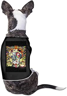 Pet Dog Cat Breathable Cute Print Thin Vest,Birds Winter Pattern with Snowflakes Berries and Animals Geometric Cute Pet Spring and Summer Breathable Thin Clothing