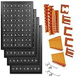 METALLMOBELL-Panel de Herramientas Metálico de 160x60x2Cm