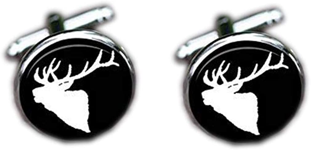 Ranking TOP13 Bloody devil Wedding Cufflinks,Elk Silhouet Head Regular dealer Cufflinks