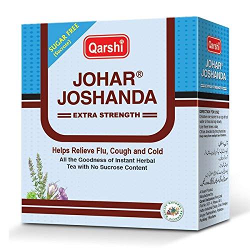 QARSHI JOHAR JOSHANDA Extra Strength Herbal Tea Remedy Cold Flu Sugar Free - 5 Sachet