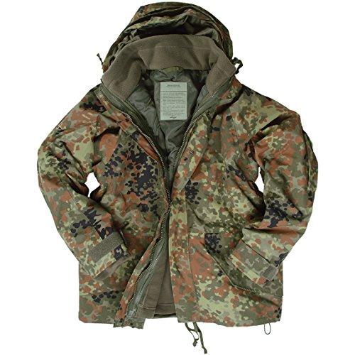 Mil-Tec ECWCS Jacke mit Flausch Flecktarn Größe XL
