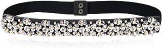 Dorchid Women Rhinstone Belt Skinny Beaded Crystal Waistband Elastic Belts 7 Colors