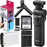 Sony Vlogger Kit ACCVC1 Including GP-VPT2BT Shooting Grip and Tripod with Bluetooth Wireless Remote Commander Bundle 64GB SDXC Memory Card + GBX Battery and Charger Compatible with NP-BX1