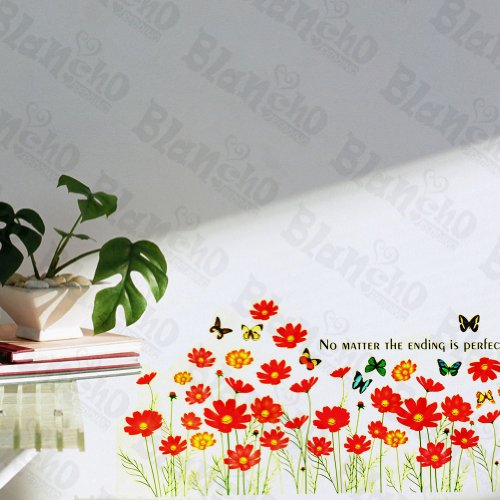 Patchs à papillon et fleurs – Stickers muraux Stickers Décoration intérieure