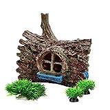 Smoothedo-Pets Decoraciones de pecera para acuario, accesorios para esconderse de peces, casa del árbol/plantas acuáticas (juego de árbol de pino)