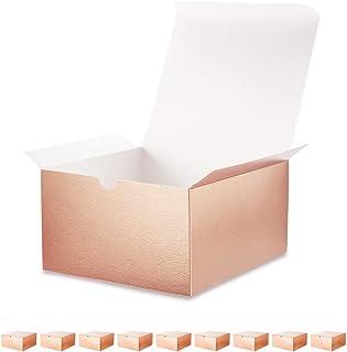 Bridesmaid Proposal Box Two Piece Empty Personalized Gift Box with Organza Ribbon 8x8x6 White Box 2 Piece Box Gift Box with Lid